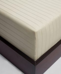 Stripe Sateen Organic Fitted Sheet