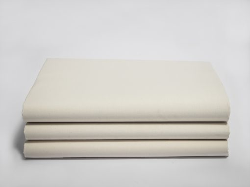 Crease Resistant Percale Natural Color Fitted Sheet