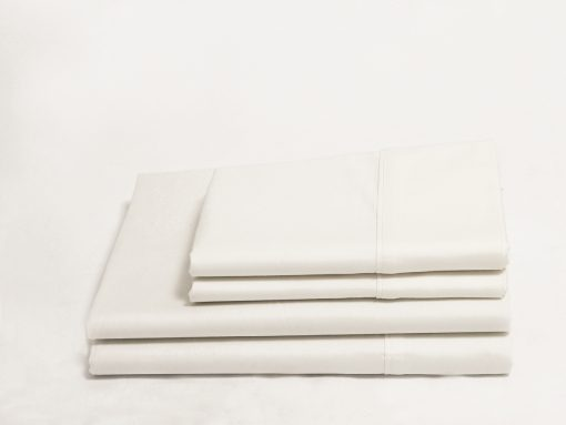 White Sateen Organic Sheet Set