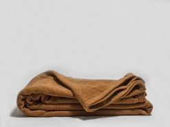 gots certified brown chenille blanket