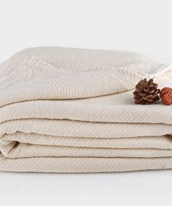Chenille Herringbone Organic Throw