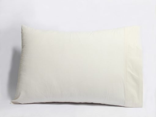 Natural Sateen Organic Pillow Cases with Z-Hem