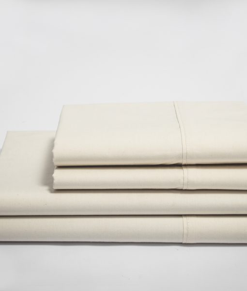 Natural Sateen Z-Hem Organic Sheet Set