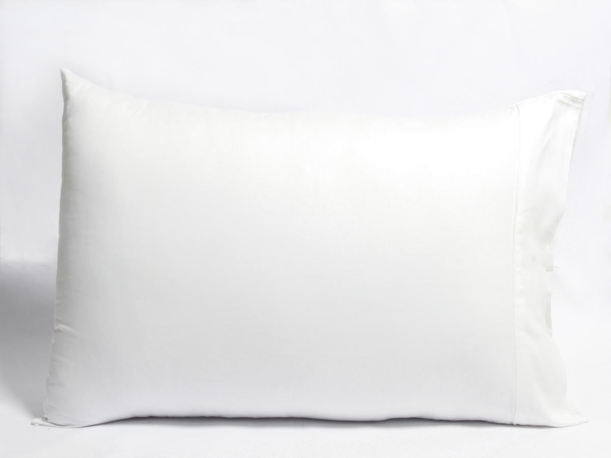 White Sateen Pillow Cases With Z Hem Naturesoft Bedding