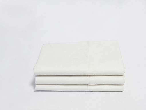 White Sateen Organic Pillow Cases with Z-Hem
