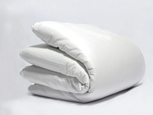 White Sateen Plain Organic Duvet Cover