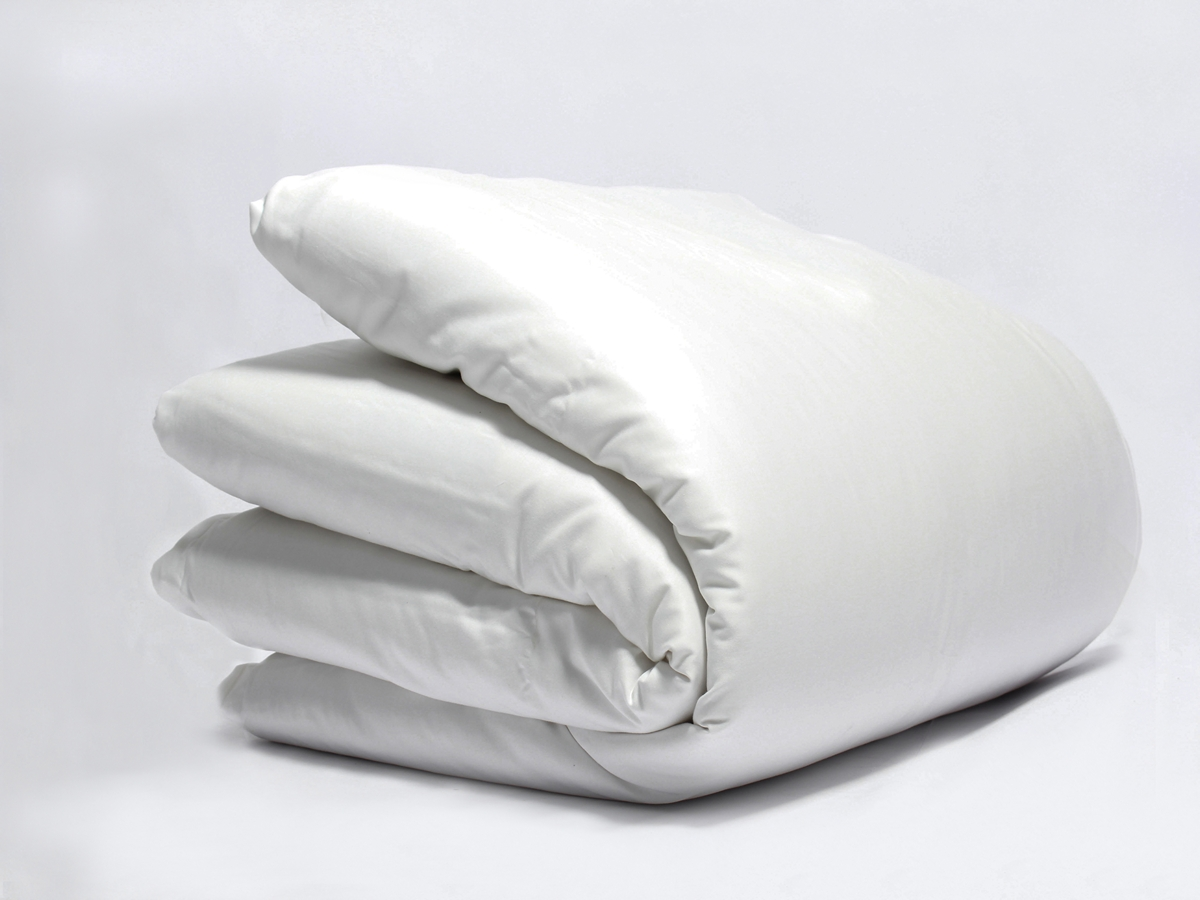 White Sateen Plain Duvet Cover Naturesoft Bedding