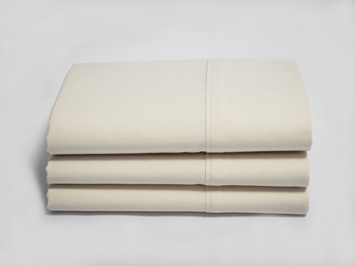 Crease Resistant Percale Natural Color Pillow Cases With Z